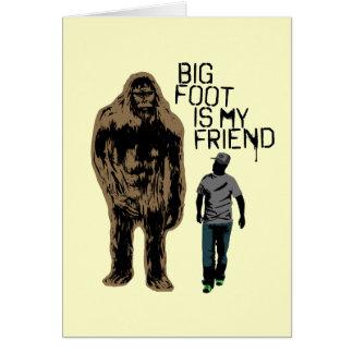 Carte Bigfoot est mon ami