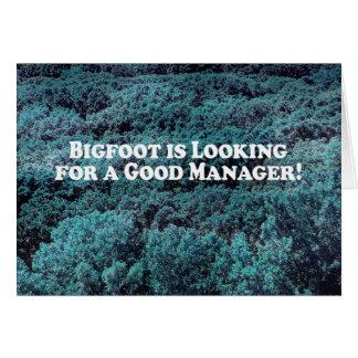 Carte Bigfoot recherche un bon directeur - de base