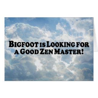Carte Bigfoot recherche un bon maître de zen - de base