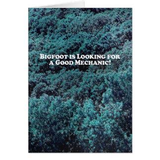 Carte Bigfoot recherche un bon mécanicien - de base