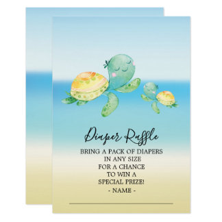 Carte Billet de tombola de couche-culotte de baby shower