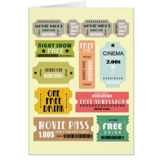 Carte Billets d'admission de film