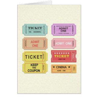 Carte Billets de film