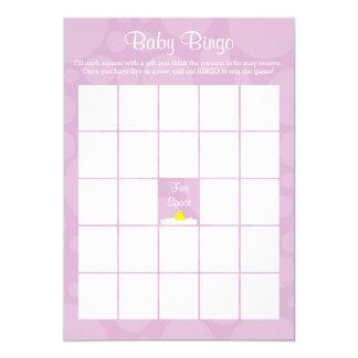 Carte Bingo-test de baby shower - thème mignon en