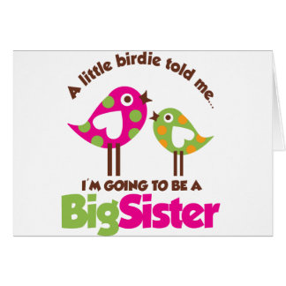 Carte Birdie allant être une grande soeur