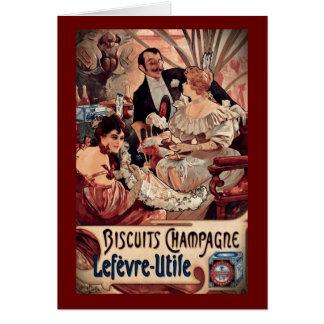 Carte Biscuits 1896 de Champagne
