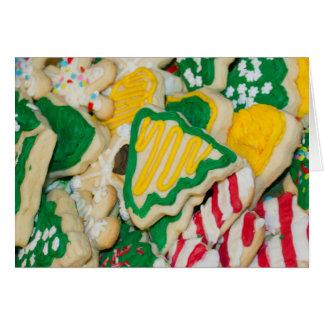 Carte Biscuits de sucre faits maison givrés décorés de