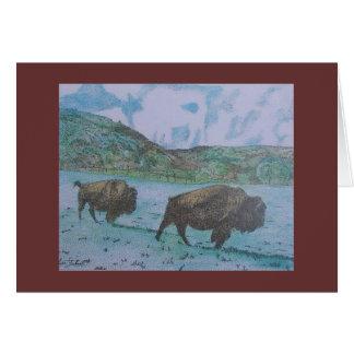 Carte bison trois