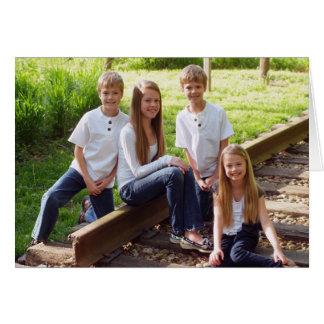Carte BLANC 2012 de Joyeux Noël de la famille de Koenig