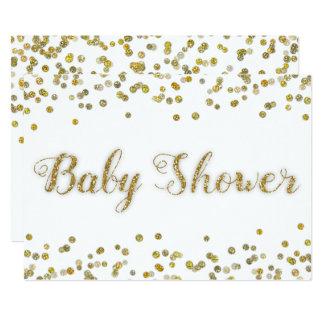 Carte Blanc et baby shower de confettis de parties