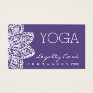 Carte blanche de fidélité de yoga de dentelle -