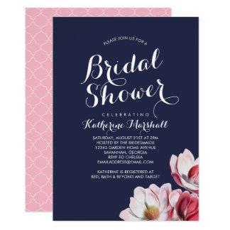 Carte Bleu de minuit de douche nuptiale de magnolia du