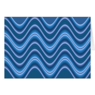 Carte bleu de vague