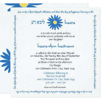 Carte Bleu délicieux de texte du message de marguerite