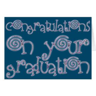 Carte Bleu d'océan de typographie d'obtention du diplôme