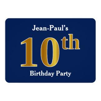 Carte Bleu, fête d'anniversaire d'or de Faux 10ème + Nom