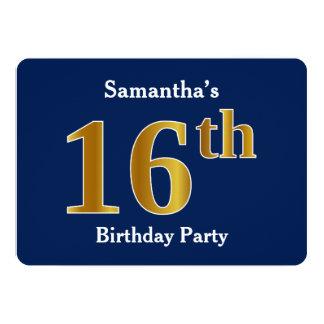 Carte Bleu, fête d'anniversaire d'or de Faux 16ème + Nom