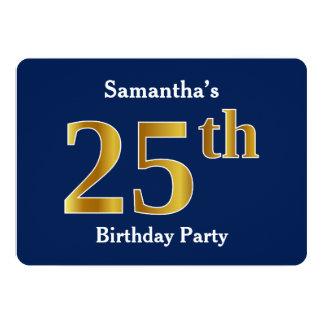 Carte Bleu, fête d'anniversaire d'or de Faux 25ème +