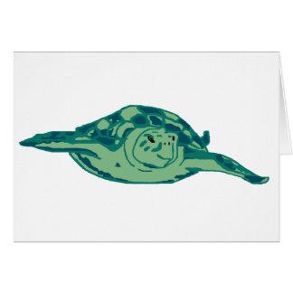 Carte bleu-vert de tortue de mer de honu