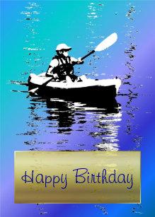 Carte Bleue Kayak.Invitations Faire Part Cartes Anniversaire Kayak Zazzle Be