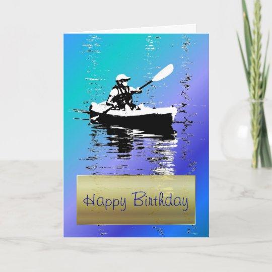Carte Bleue Kayak.Carte Bleue De Joyeux Anniversaire De Kayak De