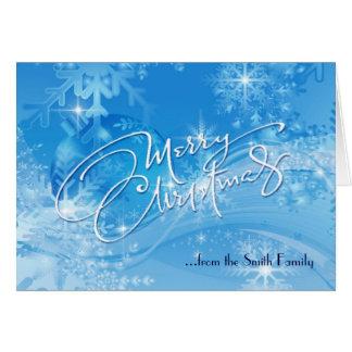 Carte bleue de Joyeux Noël d'hiver