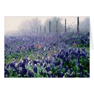 Carte Bluebonnets au printemps