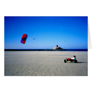 Carte Boguet de cerf-volant sur la plage de St Ouen au