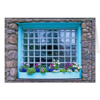 Carte Boîte de fenêtre bleue avec la photographie de
