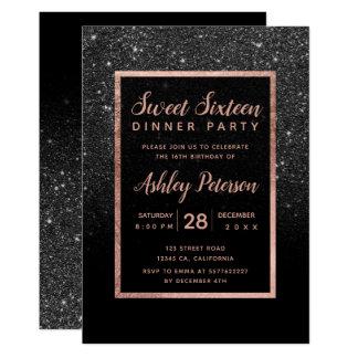 Carte Bonbon rose 16 à typographie d'or de parties