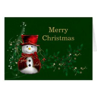 Carte Bonhomme de neige de Noël