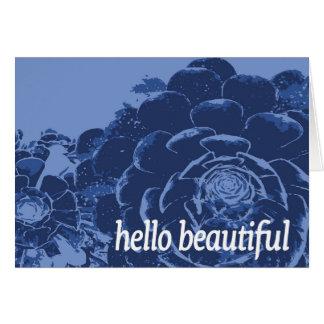 Carte Bonjour bel indigo