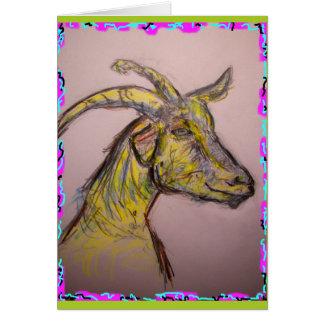 Carte bonjour chèvre