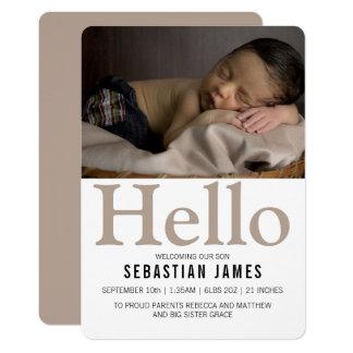 Carte Bonjour nouveau Taupe de bébé personnalisé