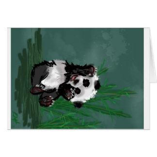 Carte Bonjour panda