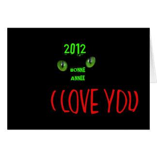 CARTE BONNE ANNEE 2012
