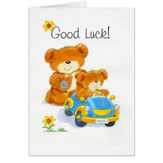 Carte Bonne chance de Bearhugs '! '