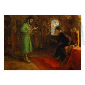Carte Boris Godunov avec Ivan le terrible