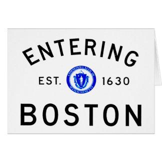 Carte Boston entrant