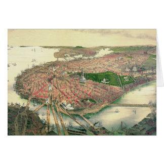 Carte Boston le Massachusetts 1877