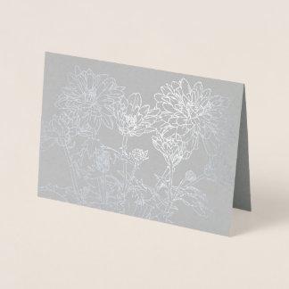 Carte Botanica de fleur de chrysanthème de schéma