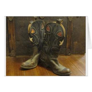 Carte Bottes de cowboy vintages