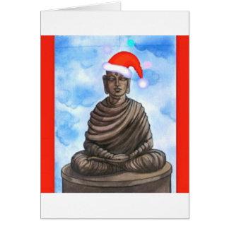 Carte Bouddhisme - Bouddha - casquette de Joyeux Noël