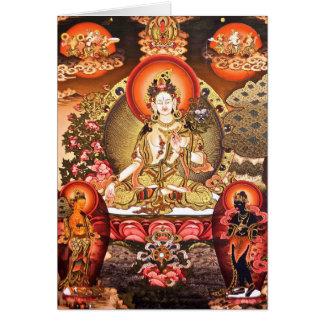 Carte bouddhiste tibétaine d'art