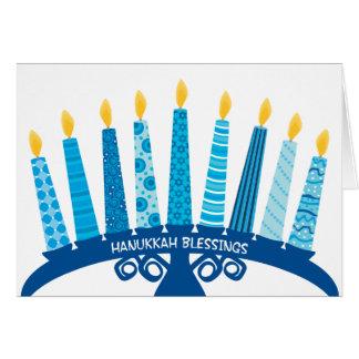 Carte Bougies de bonheur d'amour de paix de bénédictions