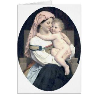 Carte Bouguereau - Femme de Cervara et fils Enfant