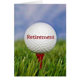 Carte Boule de golf de retraite
