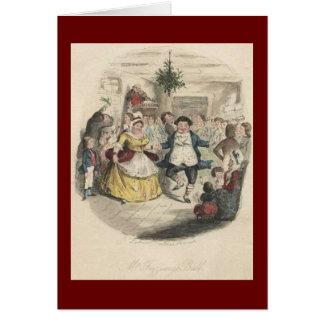 Carte Boule de Noël de vieux Fezziwig, un chant de Noël