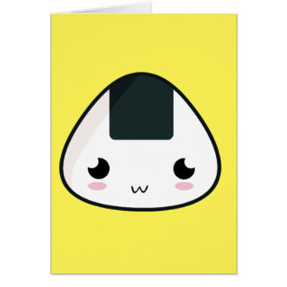 Carte Boule de riz de Kawaii