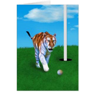 Carte Boule de vagabondage de tigre et de golf